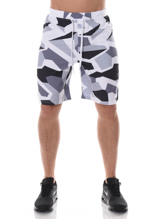 ICANIWILL Shorts Men - White/Grey Camo