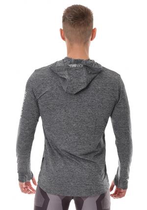 ICANIWILL Longsleeve Hoodie V.2 Men - Grey/White