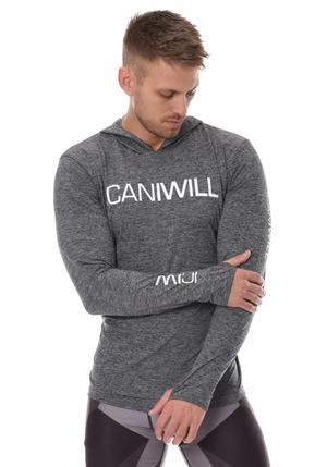 ICANIWILL Longsleeve Hoodie V.2 Men - Grå/Vit