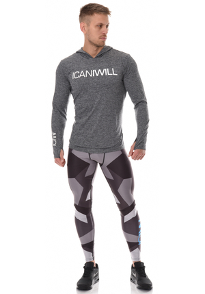 ICANIWILL Full Camo Tights Men - Mörk