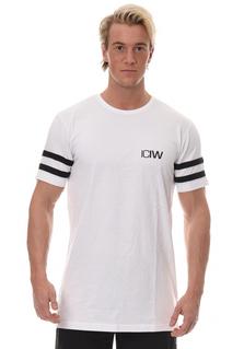 ICIW Casual Tee - Stripes White