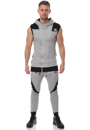 Yurei Sleeveless Hoodie - Grey/Black