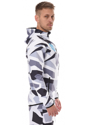 ICANIWILL Zipper Hoodie - White/Grey Camo